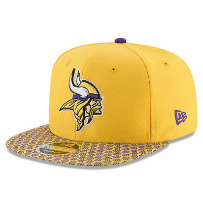 a7d73181eed Minnesota Vikings Nfl New Era 9Fifty Official Sideline Yellow Snapback Hat   36