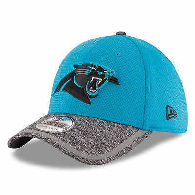 Carolina Panthers Nfl New Era 39Thirty Blue Gray Training Camp Hat Cap M l   30 0375fc88f