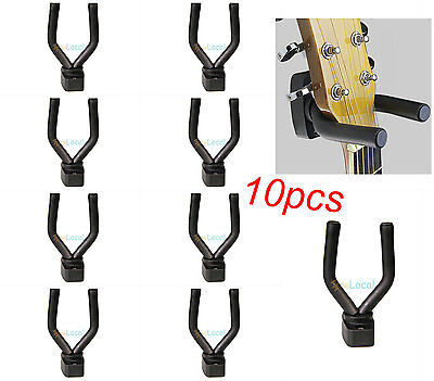 10xGuitar Bass Wall Mount Hanger Hook Holder Display Adjustable Instrument Stand
