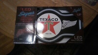 "Texaco Gasoline 17"" Marquee Shaped Led Sign Ac/Dc Ac Cord"