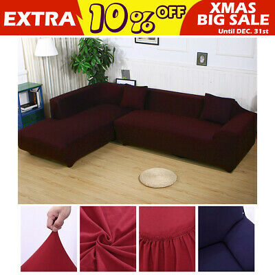 EASY Stretch Elastic Couch Sofa L Shape Lounge Covers 3+3 Seater Cover AU STOCK