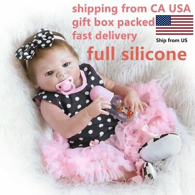 "Anatomically Correct 18"" Reborn Baby Dolls Full Body Silicone Vinyl Waterproof"