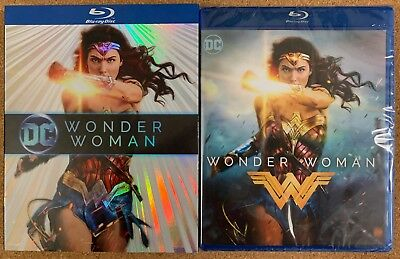 New Dc Wonder Woman Blu Ray + Exclusive Slipcover Sleeve Free World Shipping