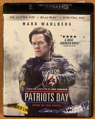 Patriots Day 4K Ultra Hd Blu Ray 2 Disc Set Free World Wide Shipping Buy It Now