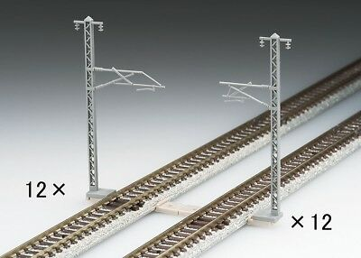 [FROM JAPAN] TOMIX N Gauge Overhead Wire Mast for Single Tracks 24pcs 3077