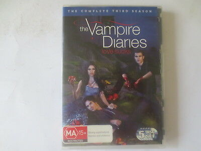 The Vampire Diaries Complete Third Season 3 DVD 5-Disc Set R4 #6025