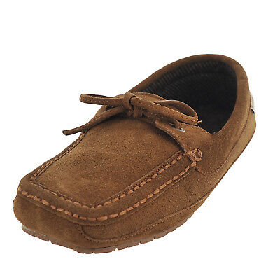 c59cfa3e76a9 BEARPAW MENS LUKE Brown Suede Moccasin Slippers Shoes 9 Medium (D ...