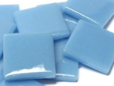 Mid Turquoise Gloss Glass Mosaic Tiles 2.5cm - Art Craft Supplies