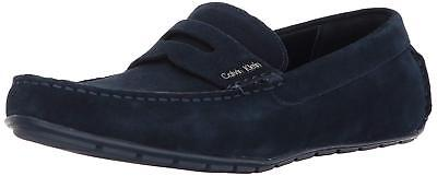 33b42b03e6b CALVIN KLEIN IVAN Calf Suede Leather Gray Men s Loafers Shoes Size ...