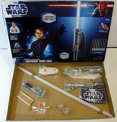 Star Wars Lightsaber Room Light - Remote Controlled Wall Mounting Roomlight Jedi