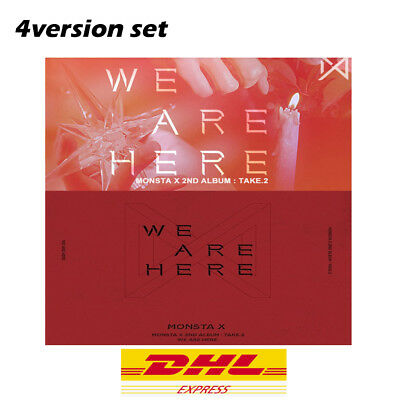 MONSTA X 2nd Album - TAKE.2 WE ARE HERE (4album SET ver.) 4album / Express ship