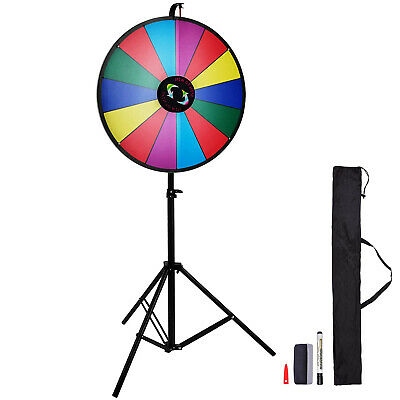24''/60cm Prize Wheel Fortune Folding Tripod Floor Stand Spinning Game Carniva