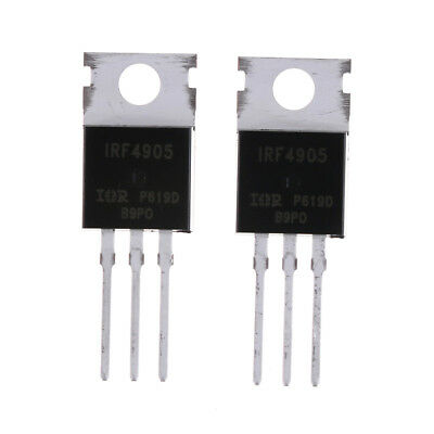 UK_10pcs IRF4905 IRF4905PBF Power MOSFET 74A 55V P-Channel IR TO Tf