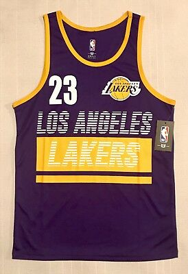4443ae0f413ca Mens NBA Store Los Angeles Lakers #23 Lebron James Jersey Tank S/M/