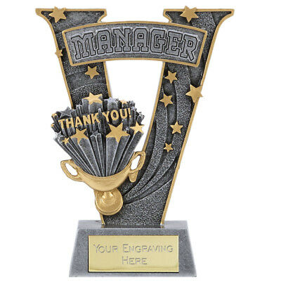 'Victory' Football Manager Gift Award *Free Personalised Metallic Label* A1529B