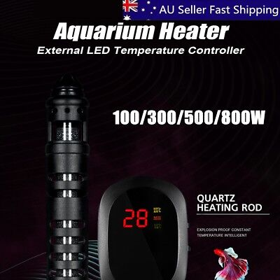 200-800W Aquarium Submersible Heater Fish Tank Auto Water Digtal LED Thermostat