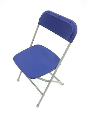 Blue Folding Samsonite Style Chairs, trade show chairs, exhibition furniture