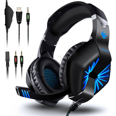 ELE 3,5 mm Gaming Headset MIC LED cuffie per PC Mac portatile PS4 Slim Xbox One