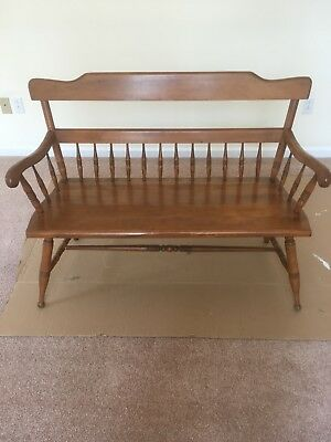 Ethan Allen Deacon S Bench Old Tavern Antiqued Distressed
