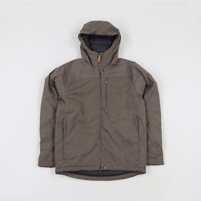 newest d34ec 8d3c6 FJALLRAVEN OUTDOOR KIRUNA Polyester Padded G-1000 Canvas Jacket Taupe Brown