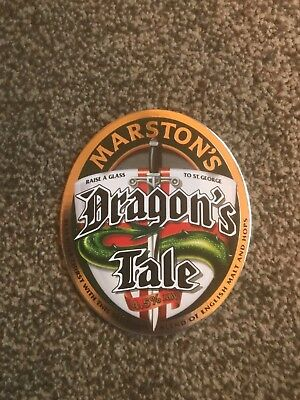 Marston's Dragon's Tale Beer Pump Clip Breweriana Brand New Free Fast P+P