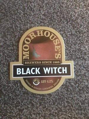 Moorhouse's Black Witch Beer Pump Clip Breweriana Brand New Free Fast P+P