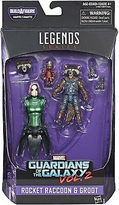 Marvel Legends Series Guardians Of The Galaxy Vol. 2 Rocket Raccoon And Groot