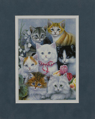 Cats by Barbara Keith 8x10 double matted art print