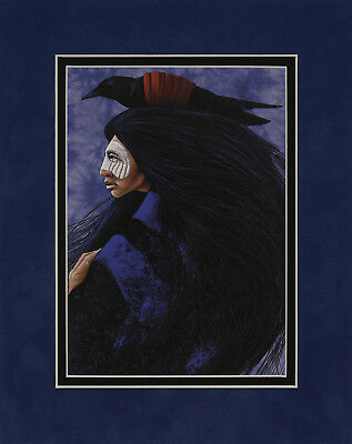 Blue Raven by Frank Howell 8x10 double matted art print