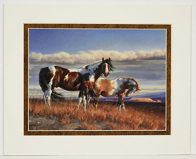Painted Desert by Nancy Glazier 8x10 double matted art print - Horses