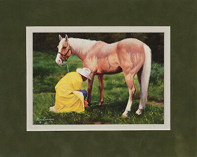 Soggy Sunday by Steve Devenyns 8x10 double matted art print