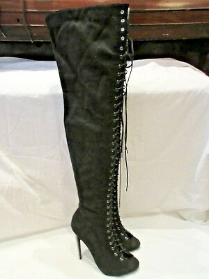 Overknee Stiefel Damenschuh Party Abend Stiletto Sommer ikuTOXPZ