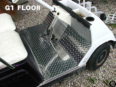 YAMAHA G1 golf cart Highly Polished Aluminum Diamond Plate 3 pcs.Floor Cover
