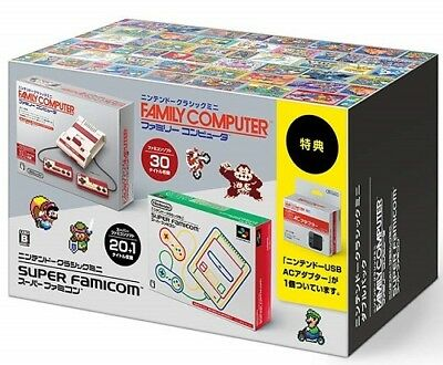 Nintendo Classic mini famicom & Super Famicon Double pack Japan Free Shipping