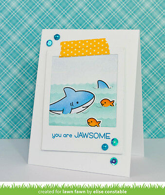 LAWN FAWN CLEAR acrylic stamps & matching dies- BUN IN THE