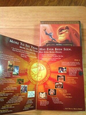 The Lion King (DVD, 2003, 2-Disc Set, Platinum Edition)NEW Authentic Disney US