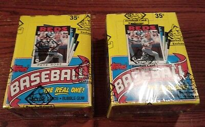 1986 Topps Baseball Wax Box Lot of 2 Unopened BBCE AUTH FASC From a Sealed Case