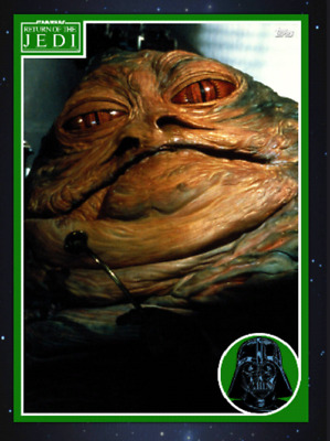 Topps Star Wars Card Trader Marathon 2019 Return Of The Jedi Jabba The Hut Green