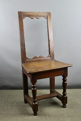 Antique French 18th Century Oak Child's Backstool / Chair