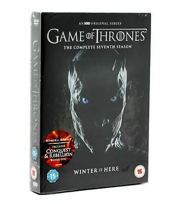 Sealed Game of Thrones Seventh Season DVD with Conquest & Rebellion Disc