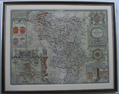 Derbyshire: an original antique map by John Speed, 1611 (1627 edition)