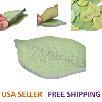 Cute Leaf Sticky Notes Memo Pad Self-Adhesive Sticky Notes Bookmark Stationery