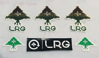 LRG Lifted Research Group 6 Sticker Lot Skate Skateboard Clothing Decals