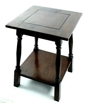 Arts and Crafts Oak Two Tier Occasional Side Table - FREE Shipping [PL4891]