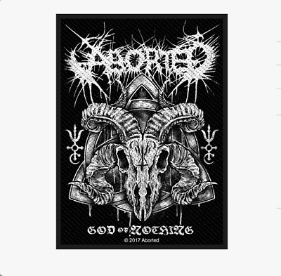 Aborted - God Of Nothing - Woven Patch - Brand New - Music 2891