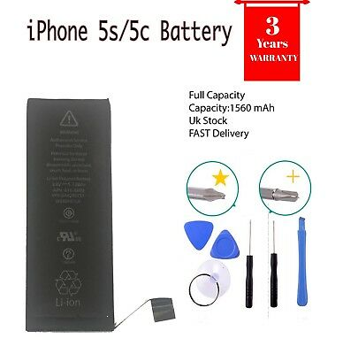 Genuine replacement Battery for iPhone 5S 5C Full Capacity 1560 mAh with tools