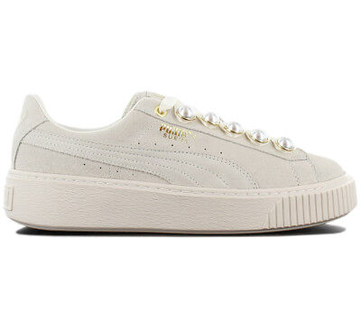 8892406069ed3f Puma Suede Platform Bling Sneaker Women s Shoes Grey-White 366688-02  Trainers