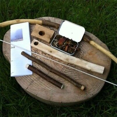 Fire By Friction, Bow Drill Set, Bushcraft, Survival, Wilderness, Fire Lighting