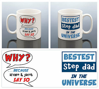 BEST STEP DAD MUG PERSONALISED Stepdad Cup Birthday Gift Stepfather Step Dad