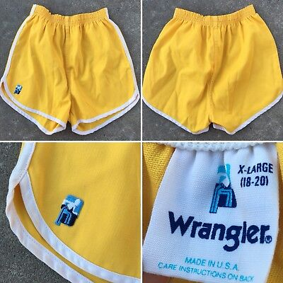 "Vintage Wrangler Shorts Track Running Althletic Gym 70s 80s XL 18-20 23"" To 26"""